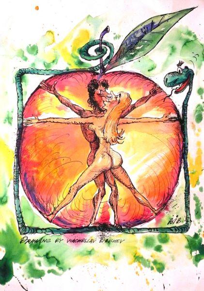 Карикатура: Адам и Ева, BIB
