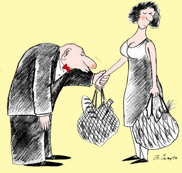 Карикатура: Целую ручки!, Петр Сигута