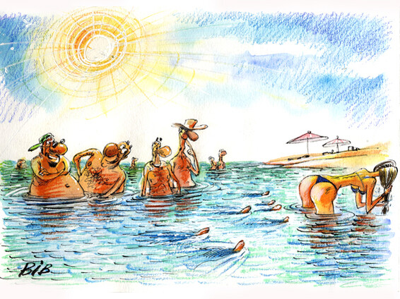 Карикатура: Поплавки, BIB