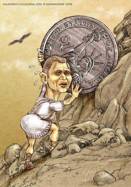 "Карикатура: ""СИЗИФ"" И $, Kalininskiy (Валентин Калининский)"