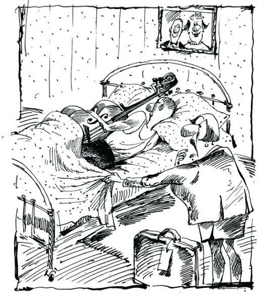 Карикатура: Любовь к музыке, BIB