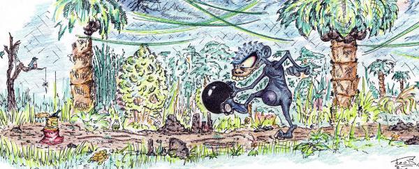 Карикатура: боулинг, FooD