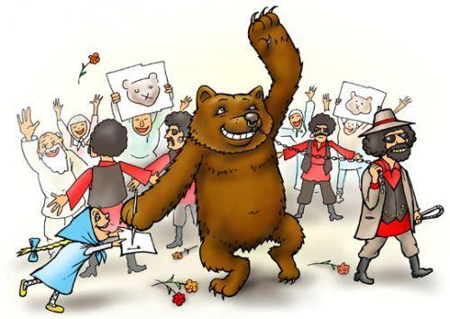 Карикатура: Косолапая звезда, Глеб Андросов