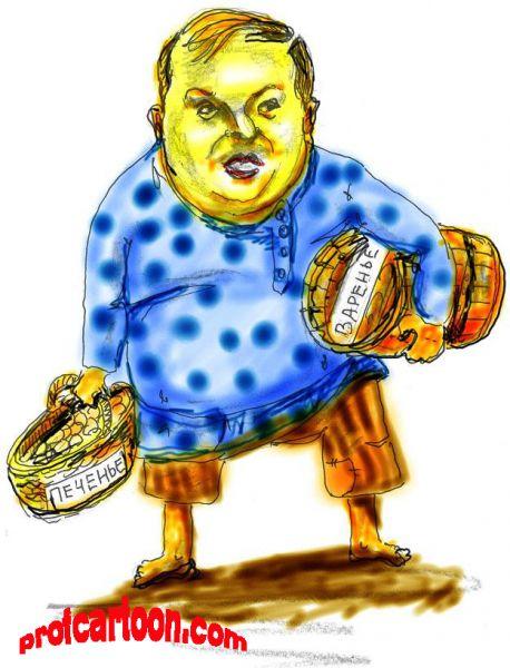 Карикатура: Гайдар, Nikolay Bukharin