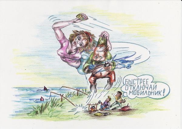 Карикатура: Телепортированный облом, Владимир Уваров