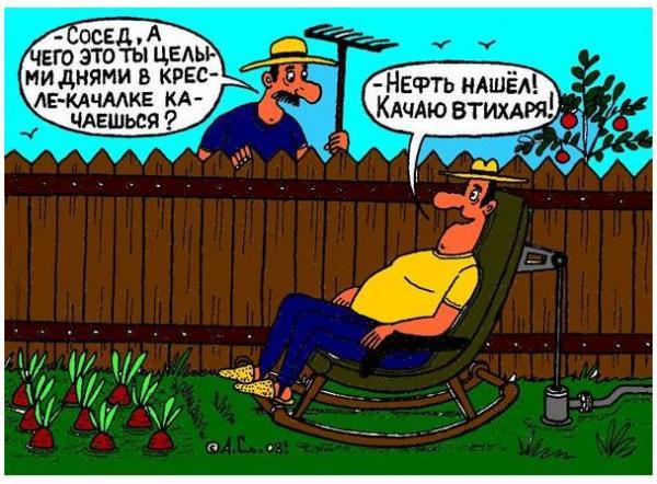 Карикатура: Кресло-качалка, Александр Саламатин