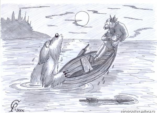 Карикатура: Возвращение Му-Му, Серебряков Роман