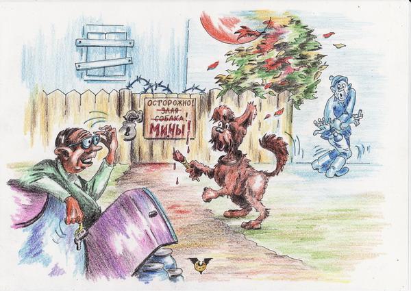 Карикатура: Последний штрих, Владимир Уваров