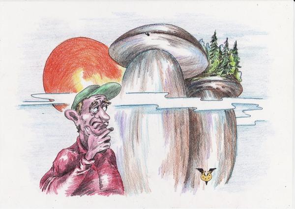 Карикатура: В лес за грибами, Владимир Уваров