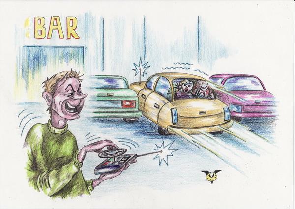 Карикатура: Парковка, Владимир Уваров