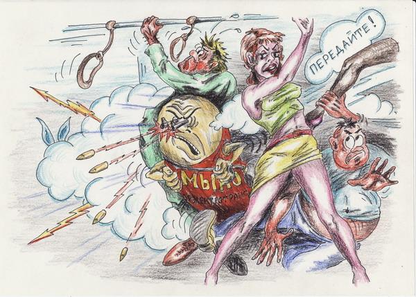 Карикатура: Контролер, Владимир Уваров
