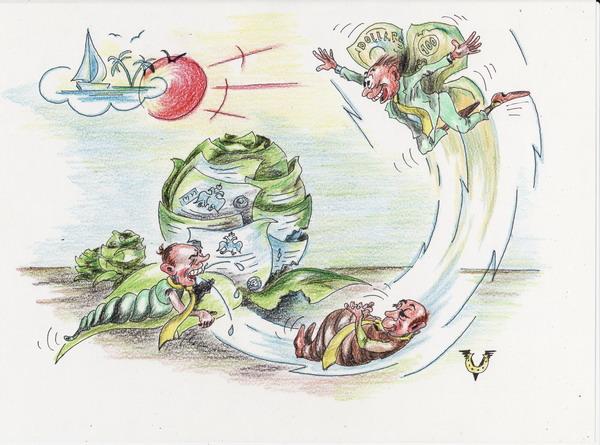 Карикатура: Капустницы, Владимир Уваров