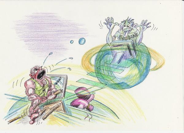 Карикатура: Интернет-общение, Владимир Уваров