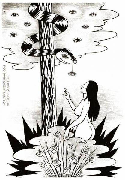 Карикатура: Искушение, Сергей Корсун