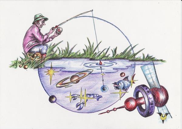 Карикатура: Наживка, Владимир Уваров