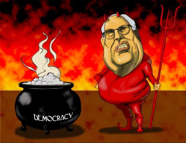 Карикатура: Чейни, blackAce