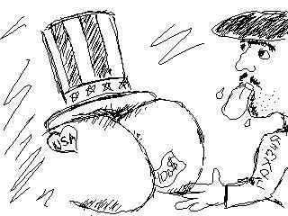 Карикатура: Грузия лижит..., Vagvin