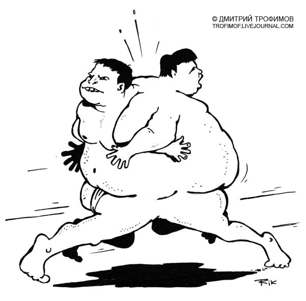 Карикатура: Сумо, Трофимов Дмитрий
