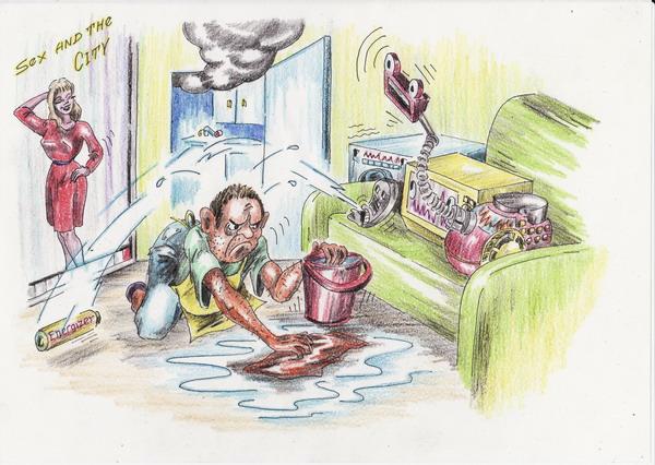 Карикатура: Бытовые приборы с интеллектом, Владимир Уваров