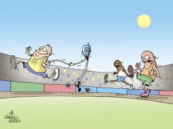 Карикатура: Допинг?, АнтонАнгел