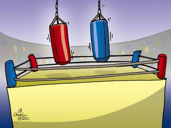 Карикатура: Боксры, АнтонАнгел