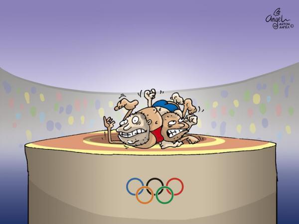 Карикатура: Греко-римская борьба, АнтонАнгел