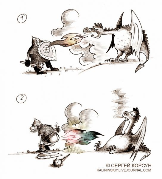 Карикатура: Наш ответ, Сергей Корсун