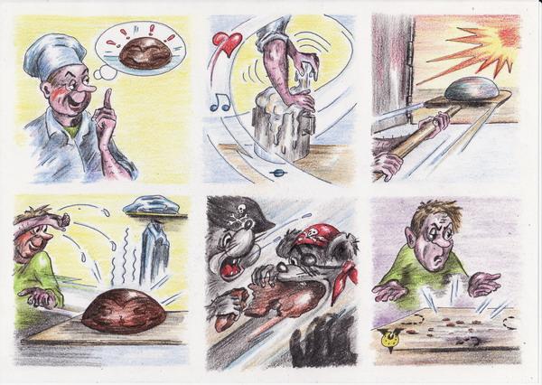 Карикатура: Кусок хлеба, Владимир Уваров