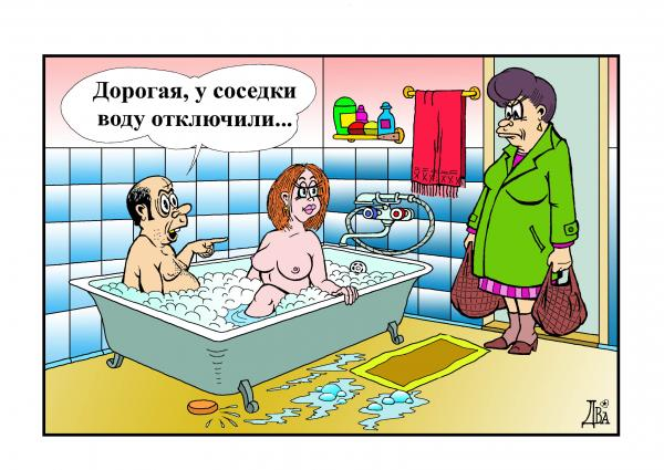 Карикатура: без воды, виктор дидюкин