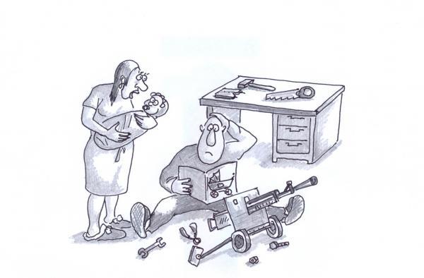 Карикатура: Странная инструкция, Серебряков Роман