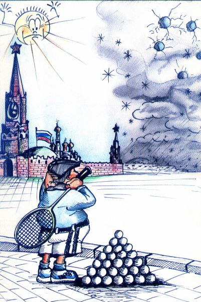 Карикатура: Борьба со снегом...