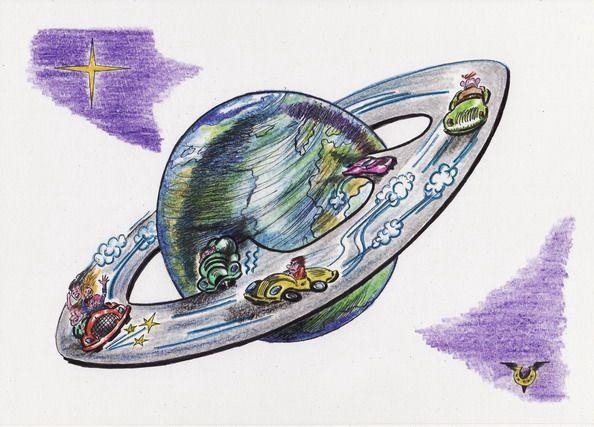 Карикатура: Кольцевая, Владимир Уваров