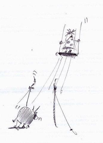 Карикатура: Качелька, Iofik