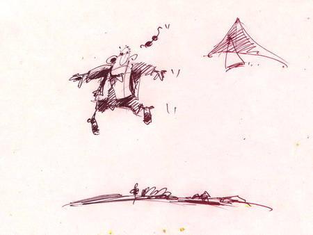 Карикатура: Неси меня мой дельтаплан..., Iofik