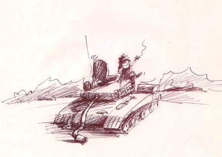 Карикатура: Отстрелялся..., Iofik