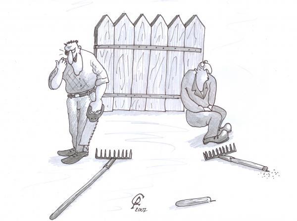 Карикатура: Западло, Серебряков Роман