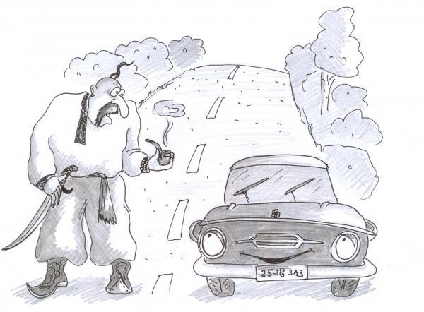 Карикатура: Запорожцы, Серебряков Роман