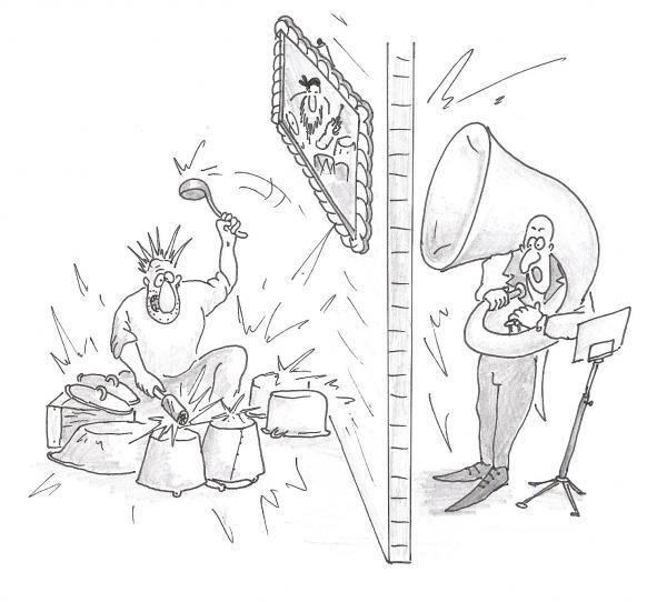 Карикатура: Конкуренты, Серебряков Роман