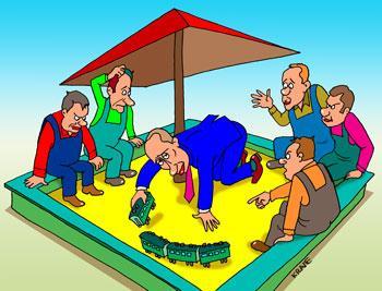 Карикатура: Сеанс антикризисной психотерапии, Евгений Кран