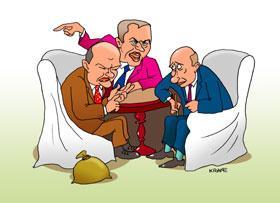 Карикатура: Нельзя совбез создавать по всей стране..., Евгений Кран