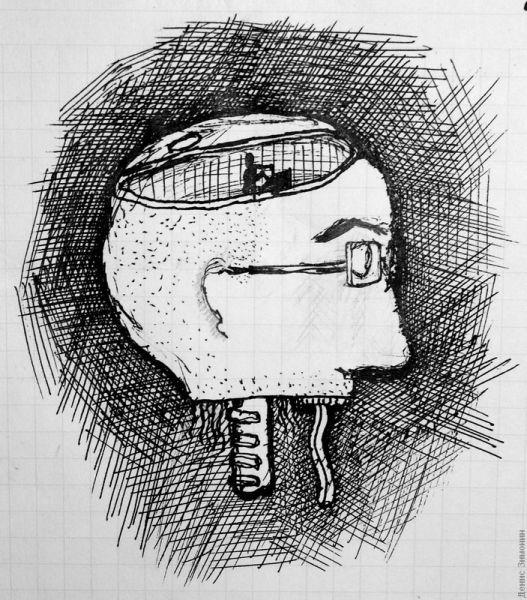 Карикатура: Чебурек Мебиуса, Денис Зимонин