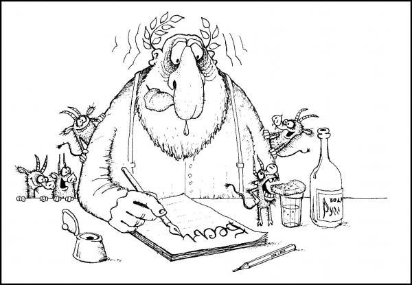 """Карикатура: """"Бесы"""" (Достоевский Ф.М.), Валерий Дмитриев"""