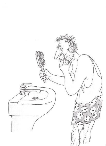 Карикатура: Щетина