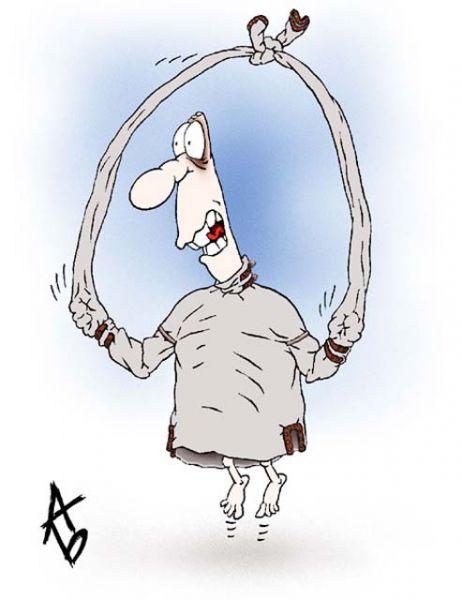 Карикатура: С физкультприветом, Андрей Бузов