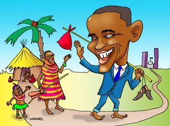 Карикатура: Обама, Евгений Кран