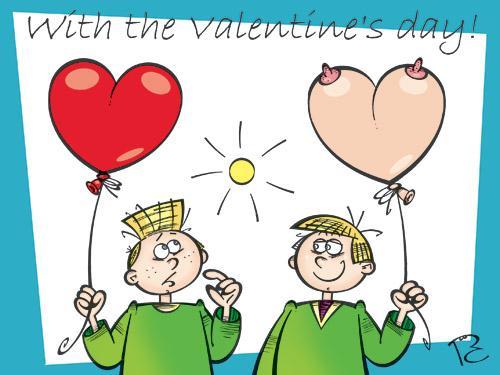 Карикатура: Оригинальная валентинка, Сергей Репьев
