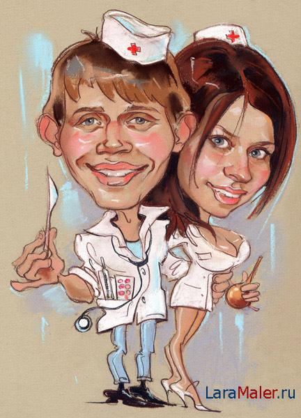 Карикатура: Студенты-медики