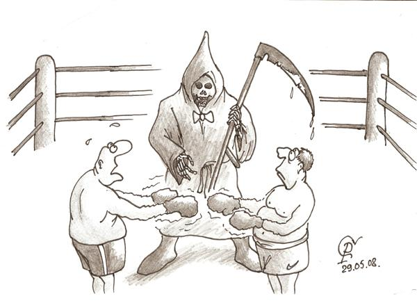 Карикатура: Последний-бой, Серебряков Роман