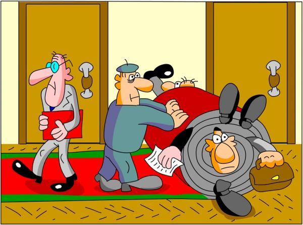 Карикатура: Красная ковровая дорожка, Дмитрий Бандура