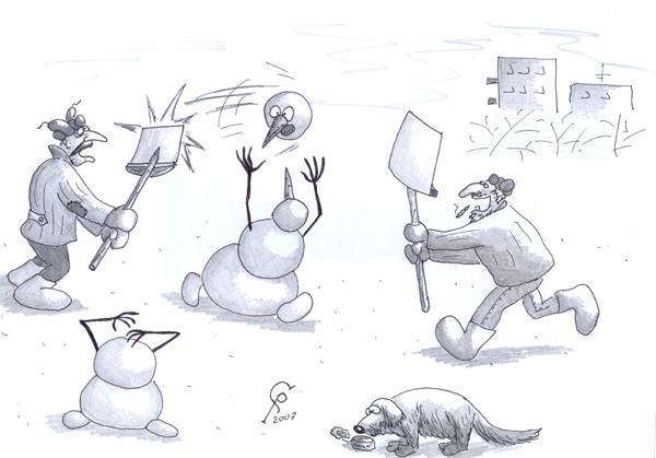 Карикатура: Бадминтон, Серебряков Роман